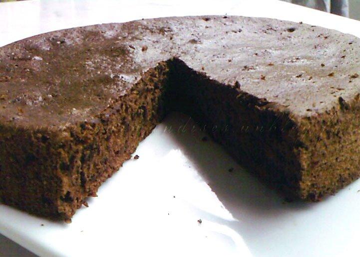 Gateau au chocolat sans blanc d'oeuf